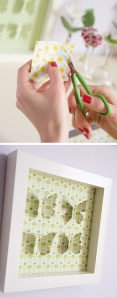 Cadre papillons relief DIY