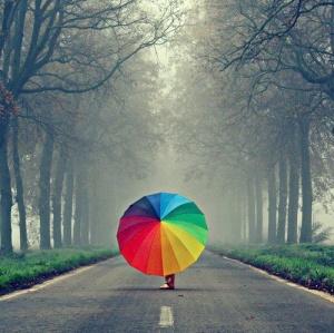 Parapluie arc en ciel
