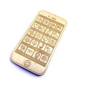 Faux iphone en bois