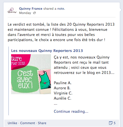 Capture Quinny reporter facebook